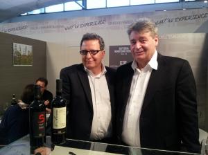 Luciano Zeoli del Monticino Rosso con l'enologo Giancarlo Soverchia