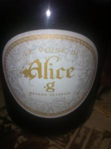 La bottiglia di Alice.G (tratta da Facebook)