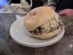 Il panino con la milza della Focacceria San Francesco