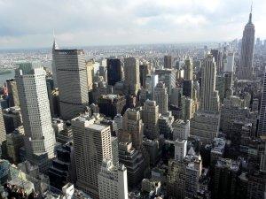 I grattacieli di New York visti dell'alto