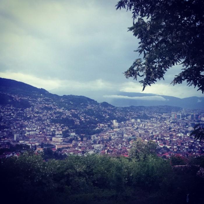 Sarajevo vista dalle colline