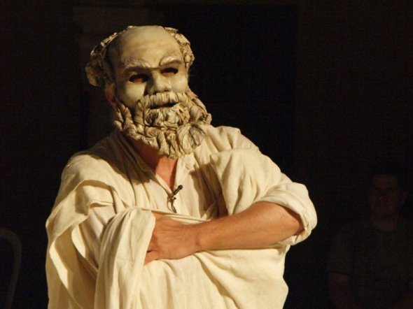 Un momento dello spettacolo Socrates Now