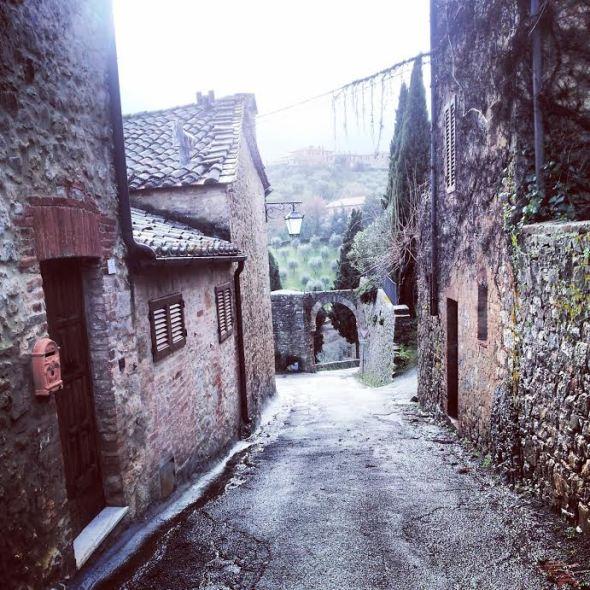 L'ingresso di Rocca d'Orcia
