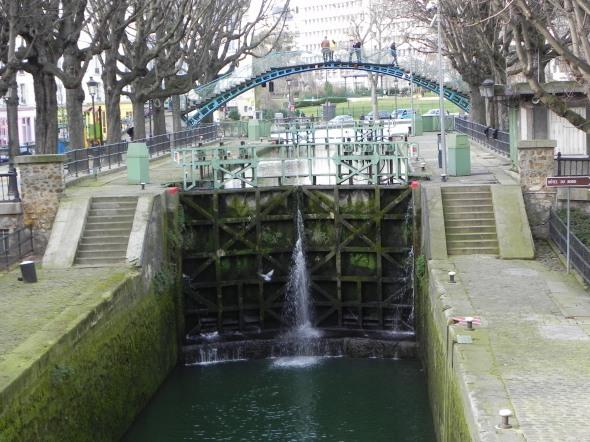 Una chiusa sul canale di Saint Martin