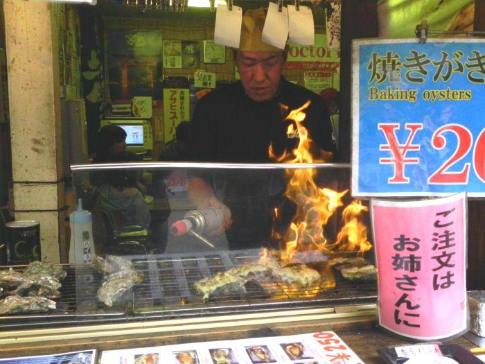 Le ostriche sono fantastiche a Hiroshima
