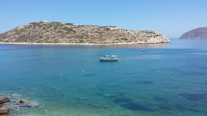 La spiaggia di Agios Pavlos