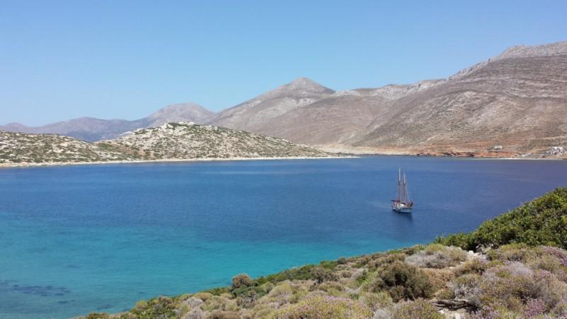 Isole della Grecia: vista di Amorgos