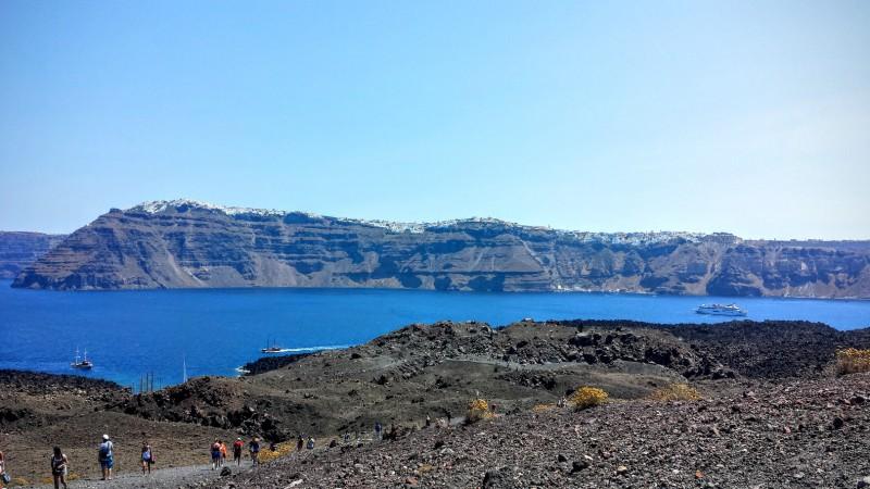 Santorini dalla caldera